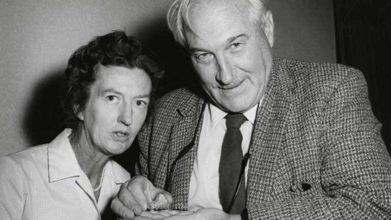 Louis Leakey and Mary Leakey