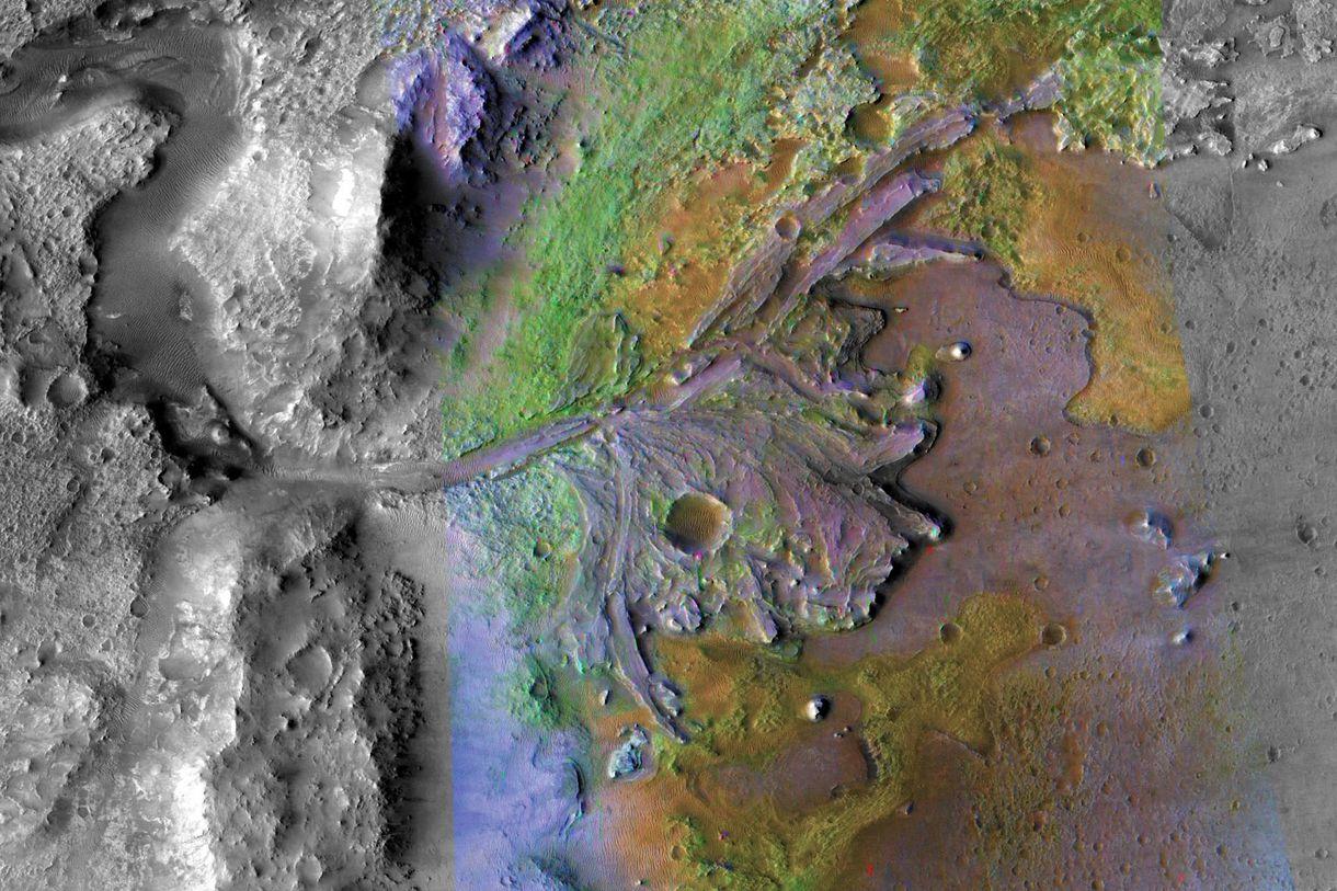 NASA izci robotu Mars'taki Jezero Krateri'ne iniş yapacak
