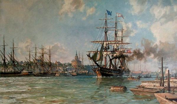 Atlantik'i geçen ilk gemi - 1819