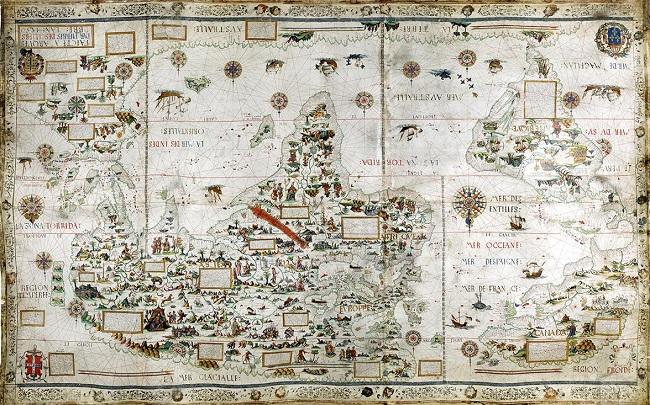 Richard Burton'ın afrika'yı keşif haritası