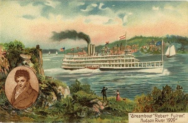 İlk buharlı gemi - 1802-07