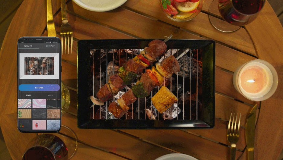 Dünyanın ilk dijital yemek tabağı
