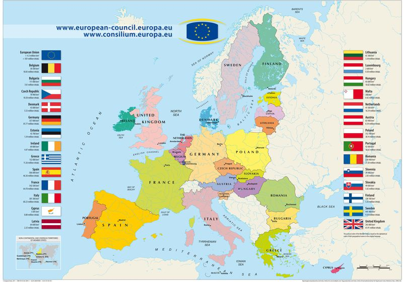 Avrupa'ya seyahatte Schengen vize serbestisi haritası