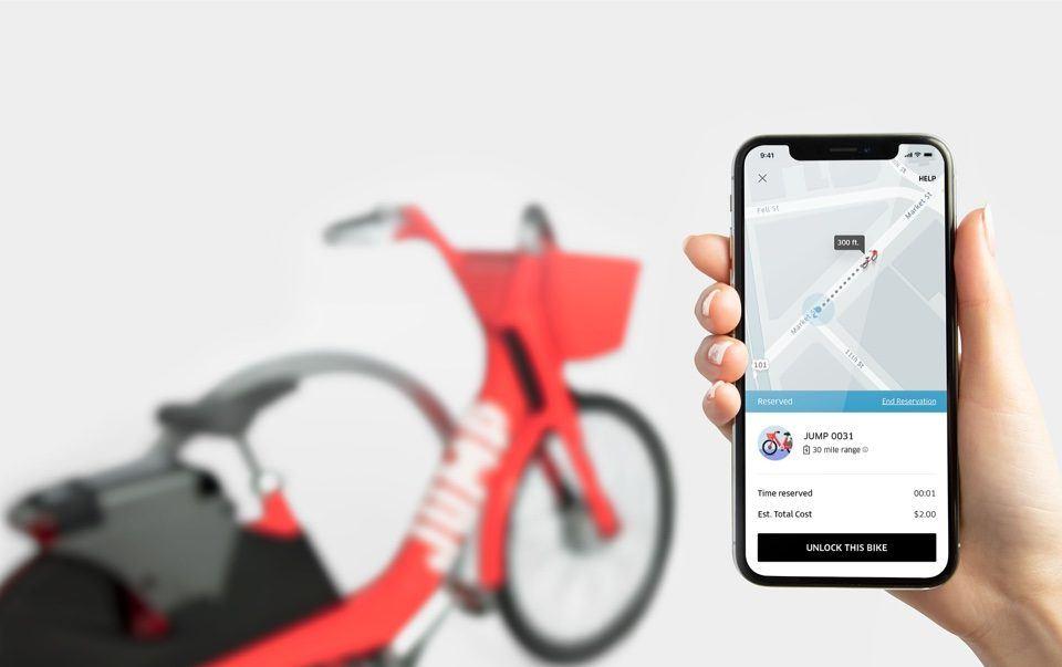 Uber e-bisikleti Jump kullanışlı özelliklerle geliyor