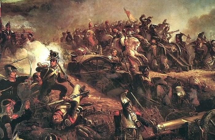 Fransız birlikleri, Borodino Savaşı sırasında Büyük (Raevsky) Redoubt'a saldırdı.