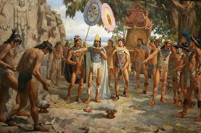 Aztek uygarlığının yıkılışı ve II. Montezuma'nın ölümü