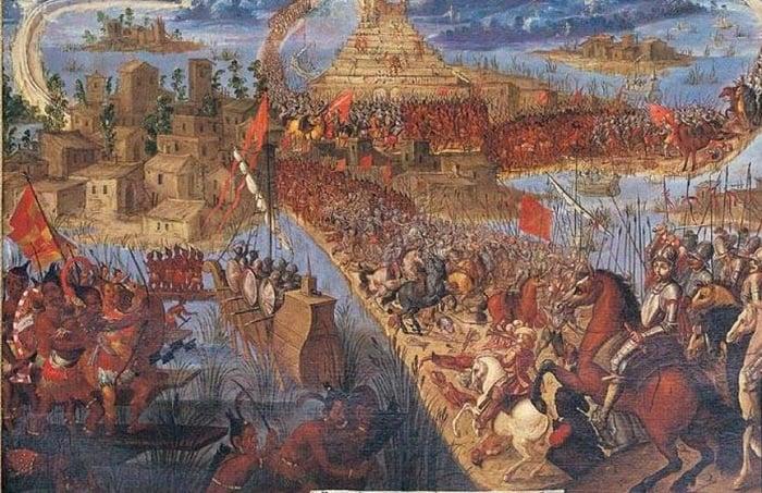 İspanya Tlaxcala eşliğinde Aztekleri işgal etti.