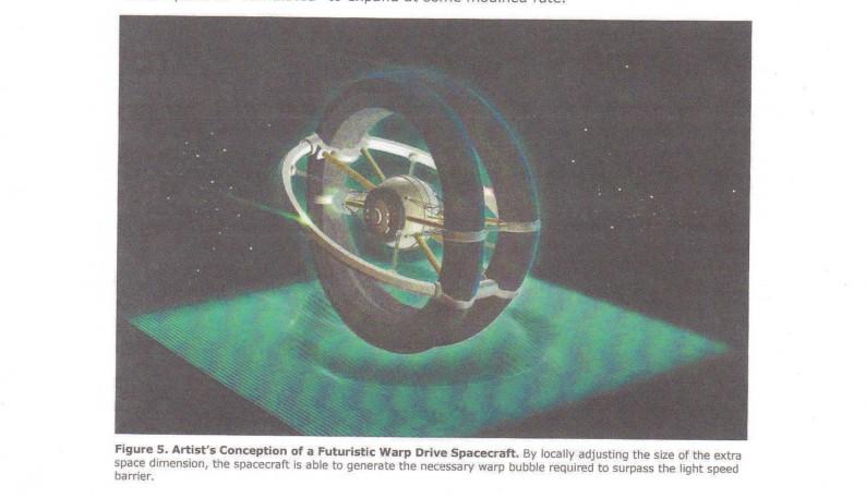 warp drive spacecraft ışık hızı yolculuğu