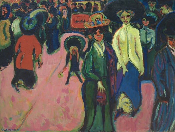 Ernst Ludwig Kirchner Street, Dresden 1908
