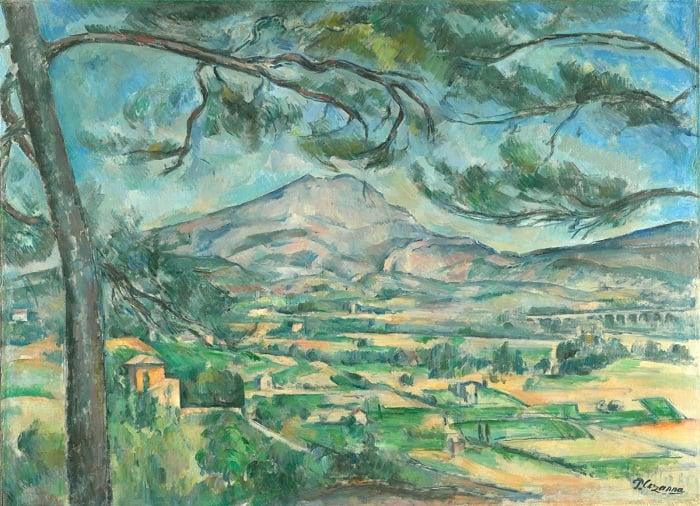 Montagne Sainte-Victoire with Large Pine / Paul Cézanne /