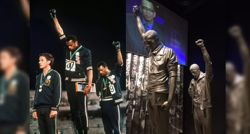 black power ve 1968 Meksika Olimpiyatları'nda yapılan 'Black Power Salute'; Tommie Smith ve John Carlos tarafından madalya töreninde gerçekleştirildi.