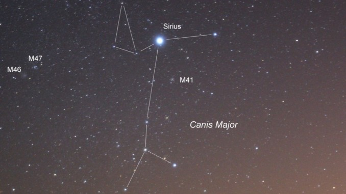 Canis Major (Büyük Köpek) takımyıldızı fotoğrafı