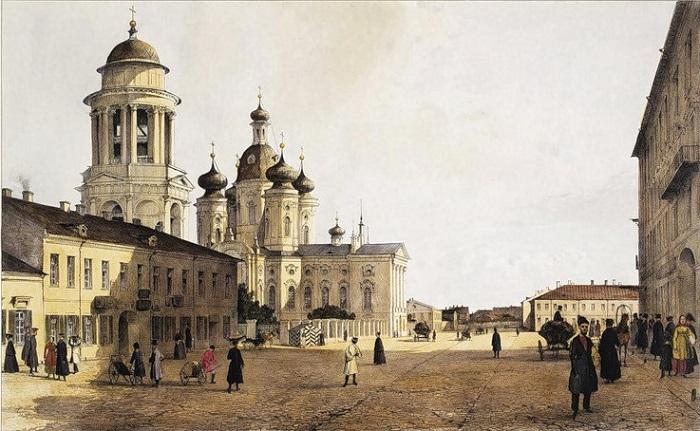 Vladimirskaya Church, St Petersburg, old painting