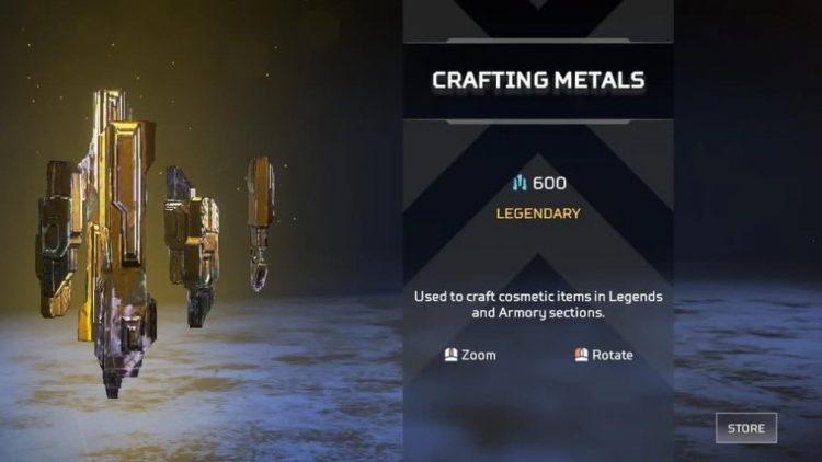 crafting metal apex legends