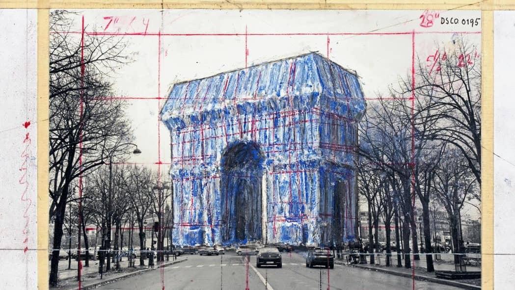 Arc de Triomphe (Zafer Takı) gümüş maviye bürünüyor