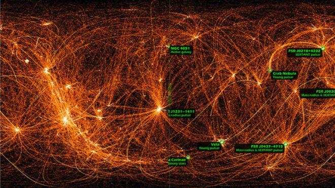nicer x-ray haritası uzay yolculuğu