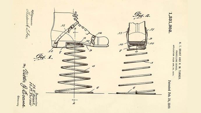 yaylı ayakkabı patentler