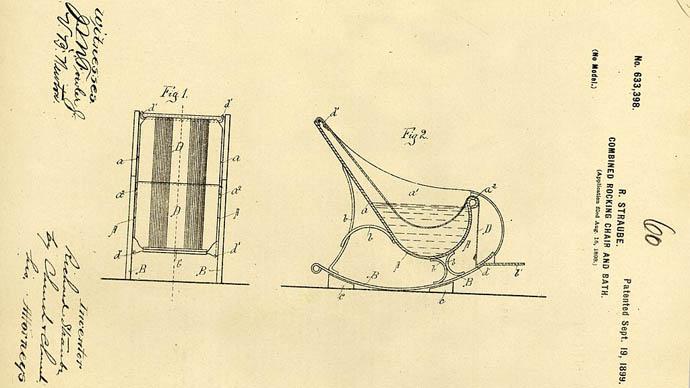 Sallanan sandalye banyosu patentler