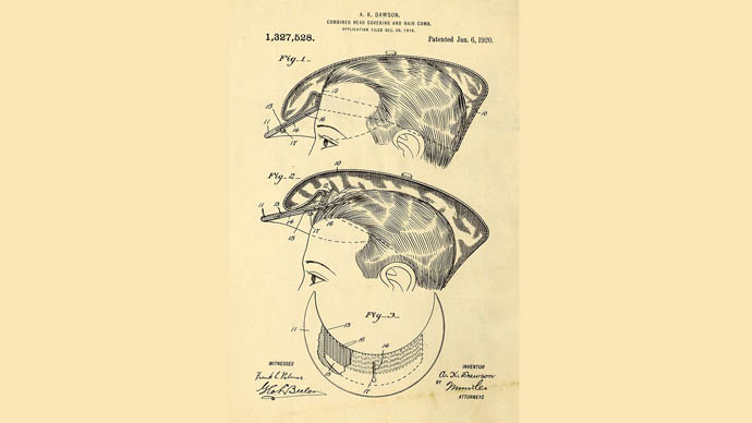 Taraklı şapka patentler