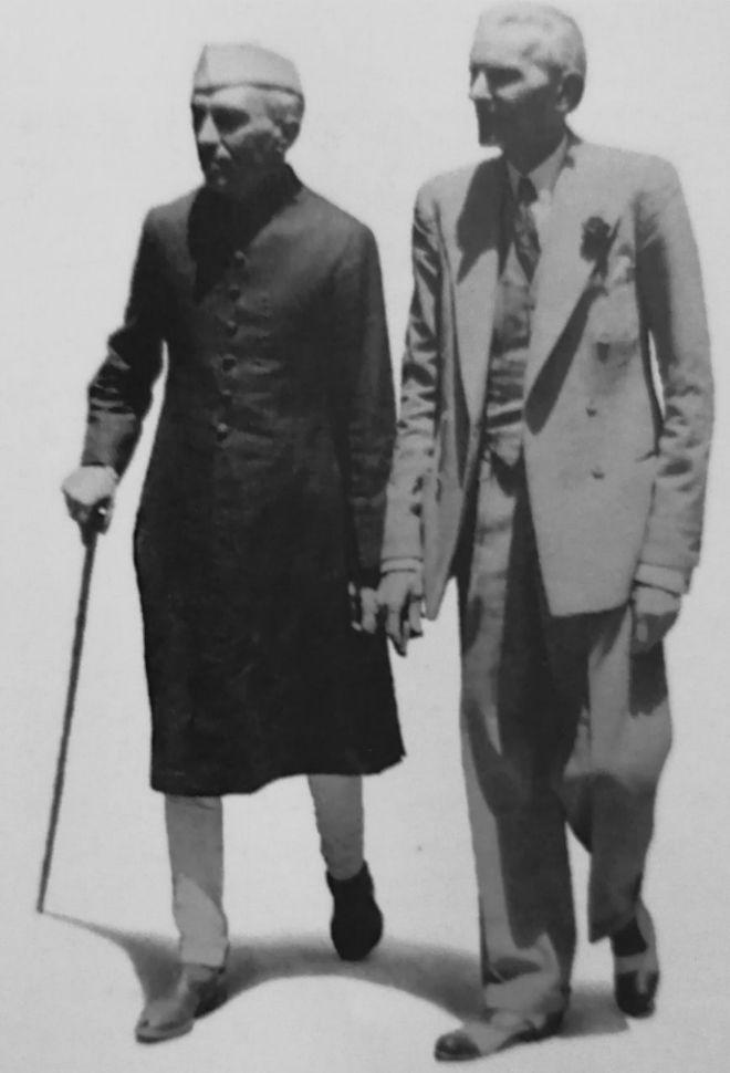 pakistan'ın kuruluş lideri muhammed ali cinnah ve pandit nehru