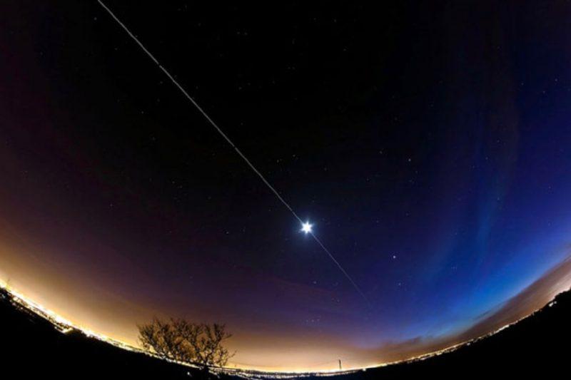 Uluslararası Uzay İstasyonu gökyüzündeki konumu