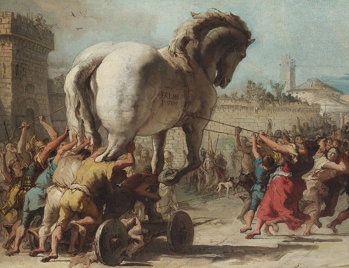 Truva Savaşı / Trojan War - Giovanni Domenico Tiepolo
