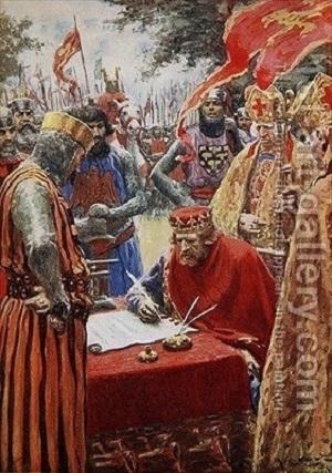 Kral John Magna Carta'yı isteksizce imzaladı