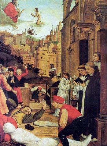 Kara Ölüm salgını döneminde yalnızca din adamları halkın içine girebiliyordu