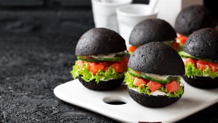 aktif karbon hamburger yiyecek