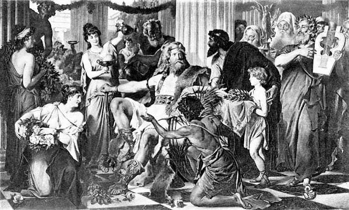 King Alaric in Athens 397 AD by Ludwig Thiersc