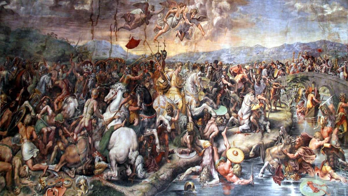 Battle of the Milvian Bridge by Giulio Romano 1520