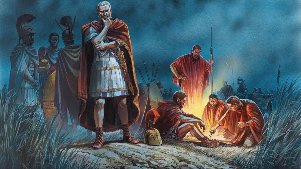 Julius Caesar Crosses the Rubicon / Avrupa tarihinde önemli olaylar / MÖ 10000 - MÖ 1 yılları