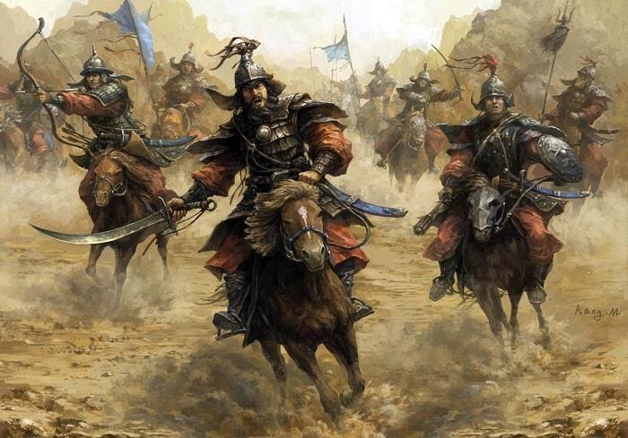 """Cengiz'in orijinal Moğol ordusu, şimdiye kadar savaşmış olan """"en büyük"""" en korkunç orduydu."""