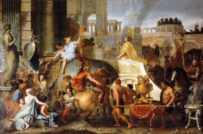 Charles Le Brun - Entry of Alexander into Babylon / Büyük İskender