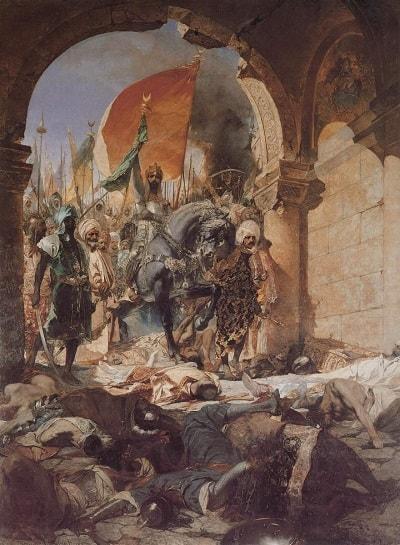 Conquest of Constantinople 1453 / İstanbul'un fethi ve Fatih Sultan Mehmet Bizans'ı kuşatması