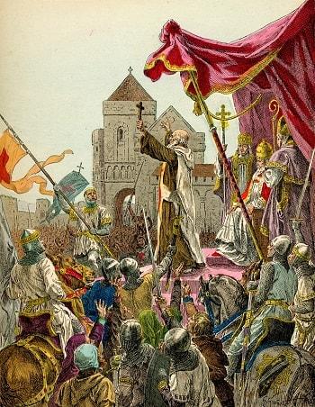 1902 Grobet 1095 Pierre L'Ermite preche la premiere croisade