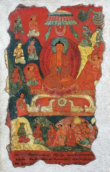 Buda aydınlantıktan sonra Benares yakınlarındaki Sarnath'ta Geyik Bahçesi'ne gitti ve orada ilk vaazını verdi.