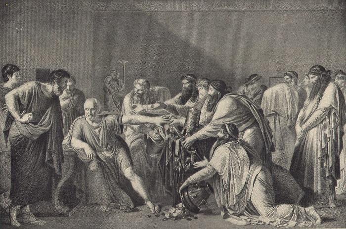 Artaxerxes'in armağanlarını reddeden Hipokrat