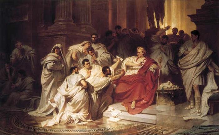 Sezar'ın Öldürülmesi 1865 Karl Theodor von Piloty / Jül Sezar 'ın ölümü / Senatonun suikasti