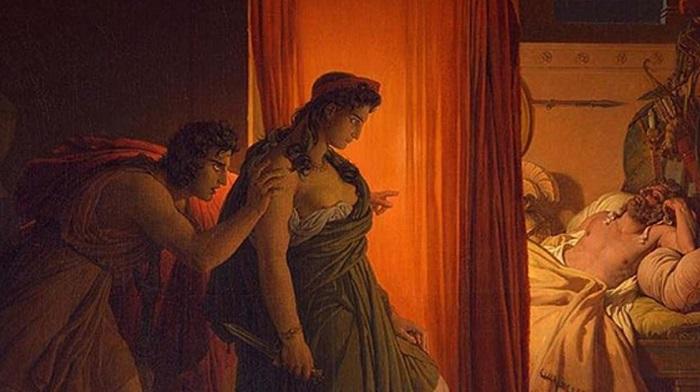 Truva Savaşı kahramanlarından Clytemnestra ve Agamemnon (1822) Pierre-Narcisse Guérin.