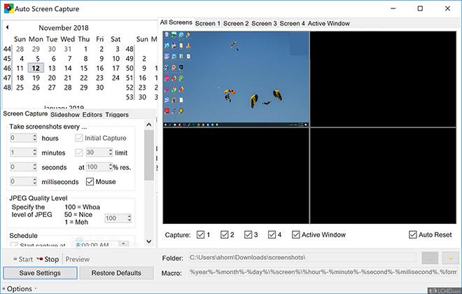 Otomatik ekran görüntüsü alma programı Auto Screen Capture