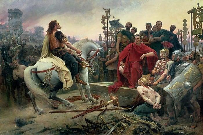 Galyalı asi Vercingetorix, Sezar'ın karşısında yeniliyor / Jül Sezar suikasti