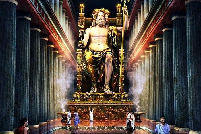 Statue of Zeus at Olympia, Greece / Dünyanın Yedi Harikası / Olmypia'daki Zeus Heykeli