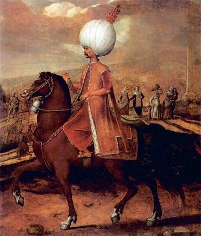İstanbul'un fethinin sonuçları  / Suleiman the Magnificent on horseback