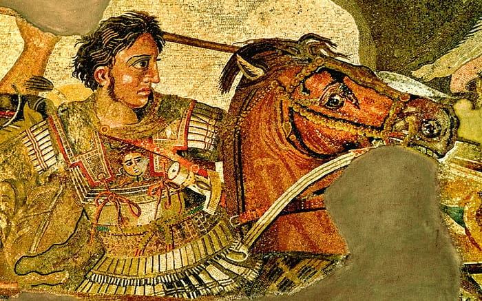 İssos Savaşı'nda Büyük İskender / Pompeii'deki Faun Evi'nden bir mozaiğin detayı