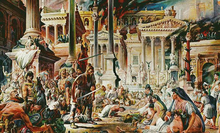 The Visigoth King Alaric  Vizigot  Batı Roma'nın yıkılışı