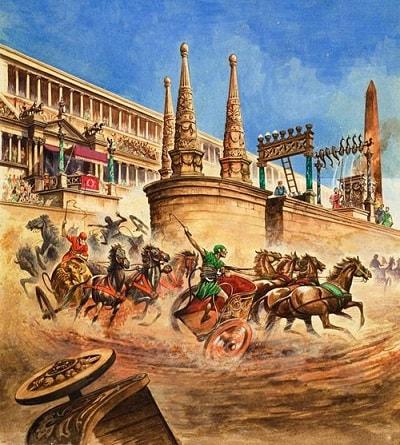 Chariot Racing at the Circus Maximus / Roma'da at yarışları / Batı Roma'nın yıkılışı