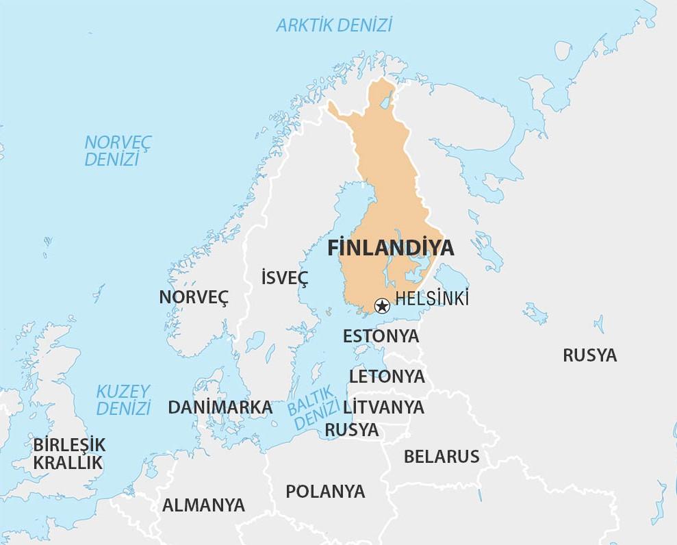 finlandiya haritası