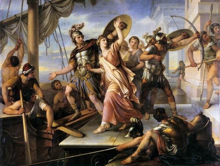 Kralın oğlu Paris'le kaçan Helen, Truva'nın kuşatılmasına neden oluyor