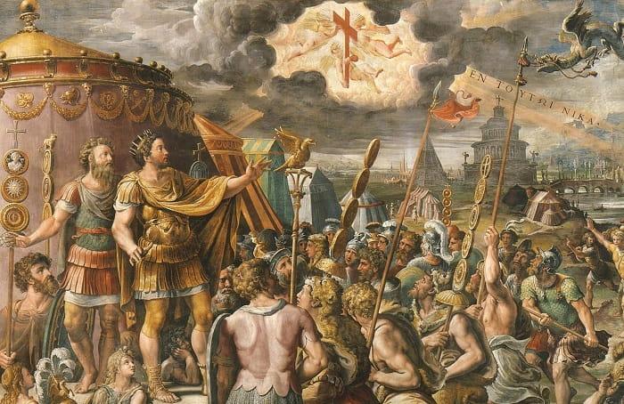 In hoc signo vinces / In this sign thou shalt conquer / ἐν τούτῳ νίκα / Roma'nın Hristiyanlığı kabulü